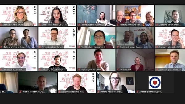Screenshot eines Online-Meetings